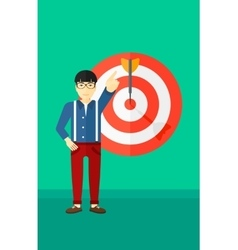 Achievement of business goal vector