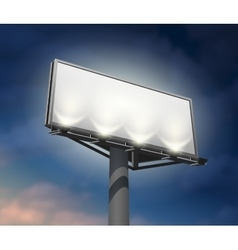 Billboard lighted night image vector