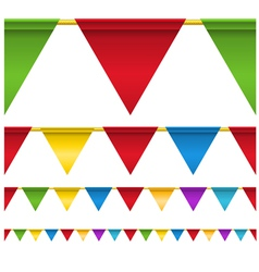 Triangle flag banners vector