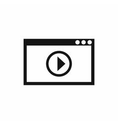 Program for video playback icon simple style vector