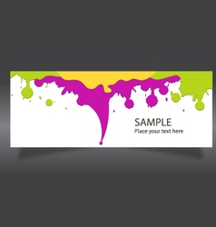 Banner colorful paint vector
