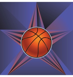 Basketball Ball on Rays Background5 vector image vector image