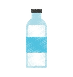Bottle water isolated icon vector