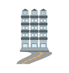 building apartment family road vector image
