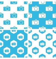 Camera patterns set vector