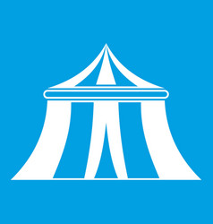 Circus tent icon white vector