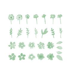 Decorative flower watercolor design elements vector