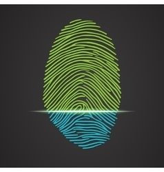 Electronic fingerprint scanner identification vector image