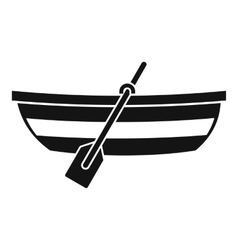 Fishing boat icon simple style vector