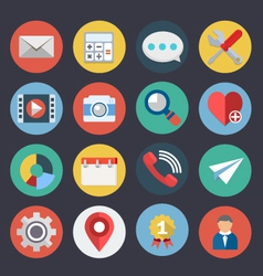 Flat icons set 4 vector
