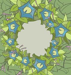 flora frame 01 vector image
