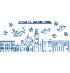 germany saarbrucken winter city skyline merry vector image