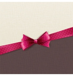 Holiday background with polka dots bow vector