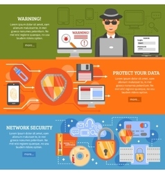 Network Security Banners vector image