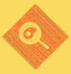Omelet at pan icon red scribble icon vector