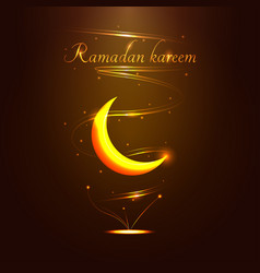 Ramadan kareem golden sign - vector
