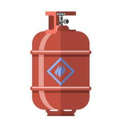 red gas tank icon vector image