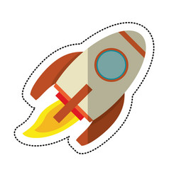 Rocket launch space shadow vector
