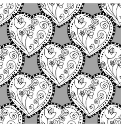seamless heart background vector image vector image