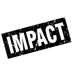 Square grunge black impact stamp vector