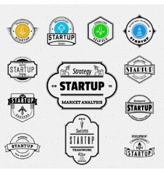Startup badges logos and labels for any use vector