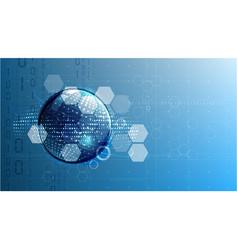 technological global communication modern energy vector image vector image