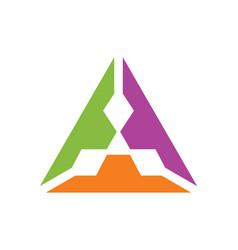 Triangle colorful diamond logo vector