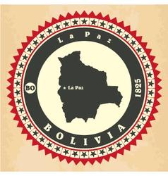 Vintage label-sticker cards of bolivia vector