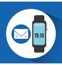 Watch email app social network vector