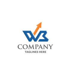 Wb letter logo design template vector