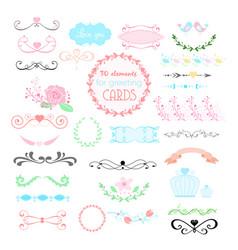 wedding graphic set arrows vector image
