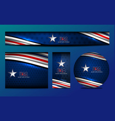 Usa color banner template vector