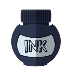 ink bottle isolated icon vector image