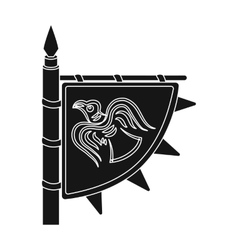 Viking s flag icon in black style isolated on vector