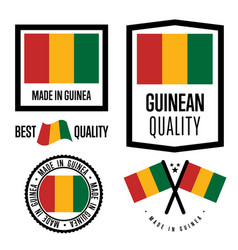 Guinea quality label set for goods vector