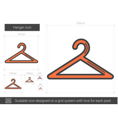 Hanger line icon vector
