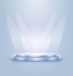 Empty illuminated podium vector