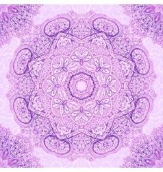 Pink vintage ornate seamless pattern tile vector image