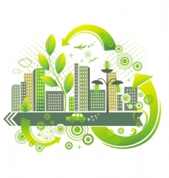 green city vector image