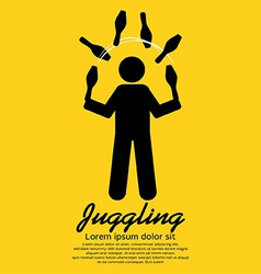 Juggling graphic sign vector