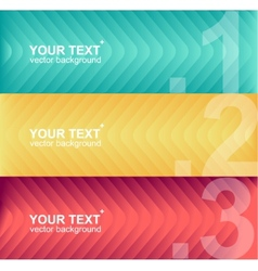 colorful text boxes infographics vector image