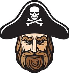 pirate head cartoon vector image