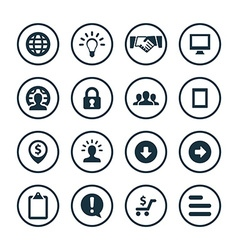 Business icons universal set vector