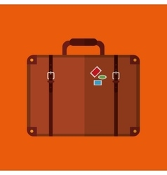 Suitcase and travel icon design vector