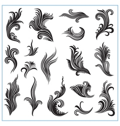 Abstract decorative plants set 1 vector