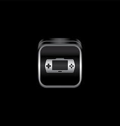 Metal plate game console theme icon button vector