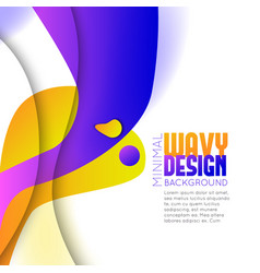 abstract background with colorful waves vector image vector image