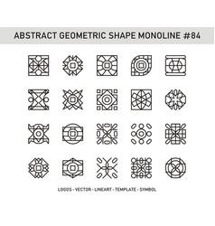 Abstract geometric shape monoline 84 vector
