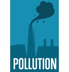 Air pollution banner factory with smoke stack vector