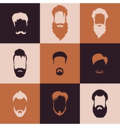 Beards set vector image vector image